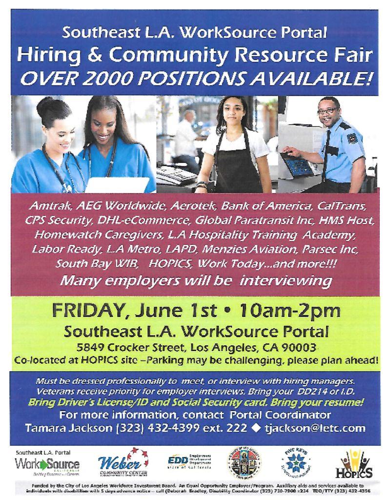 thumbnail of SE LA WorkSource Hiring Community Resource Fair