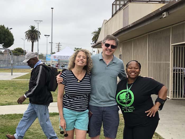 Board Member Natisha Francis on the right