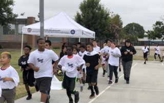 Running at Go Hoop Day