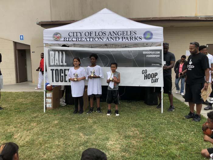 Winners at Go Hoop Day