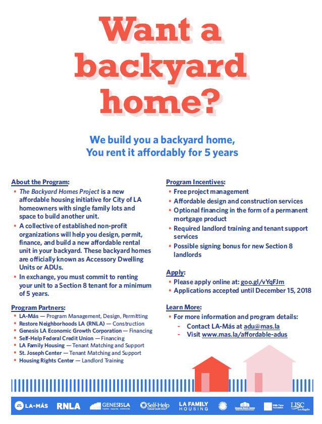 Want a backyard home?