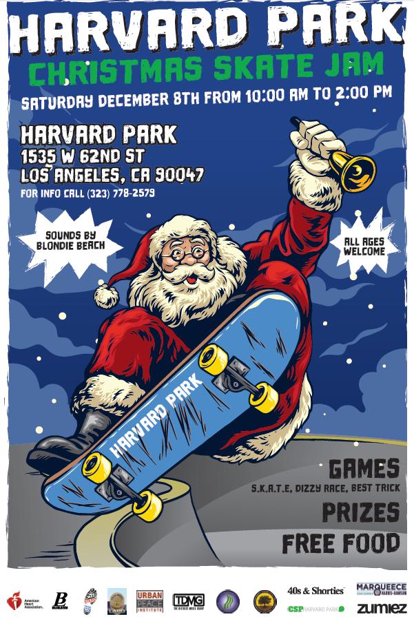 Harvard Park Christmas Skate Jam