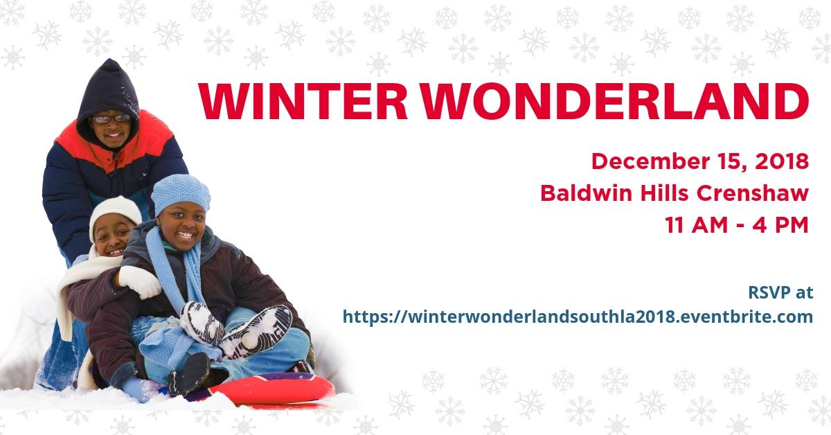 Winter Wonderland December 15, Baldwin Hills Crenshaw