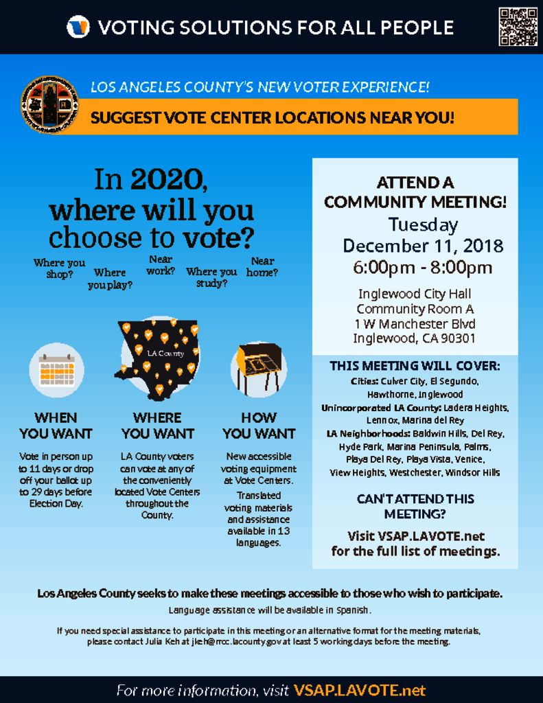 thumbnail of Vote Center Placement Flyer – December 11 Inglewood