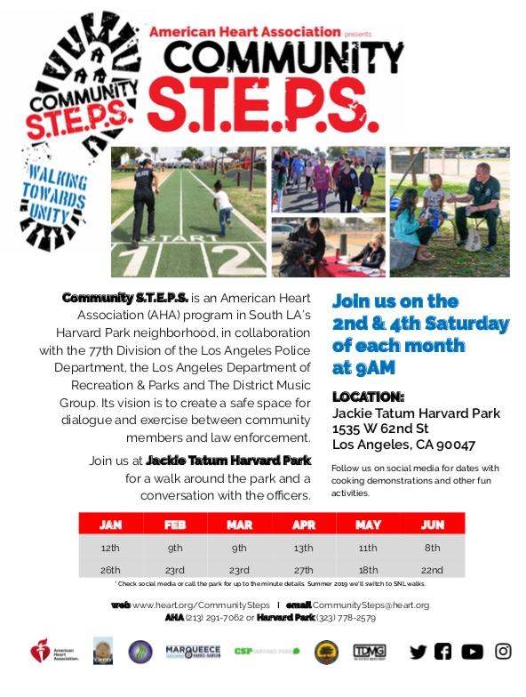 Community STEPS walking calendar