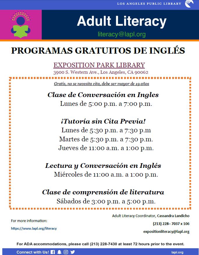Adult literacy en espanol