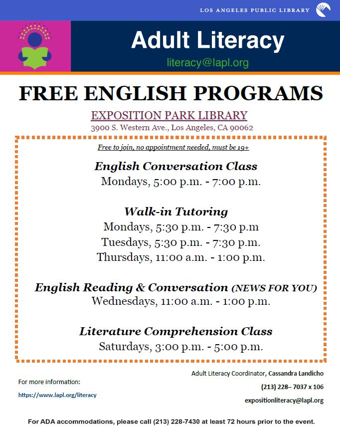 Free english programs