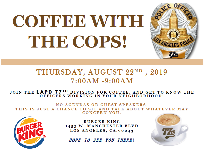 Coffee with the cops