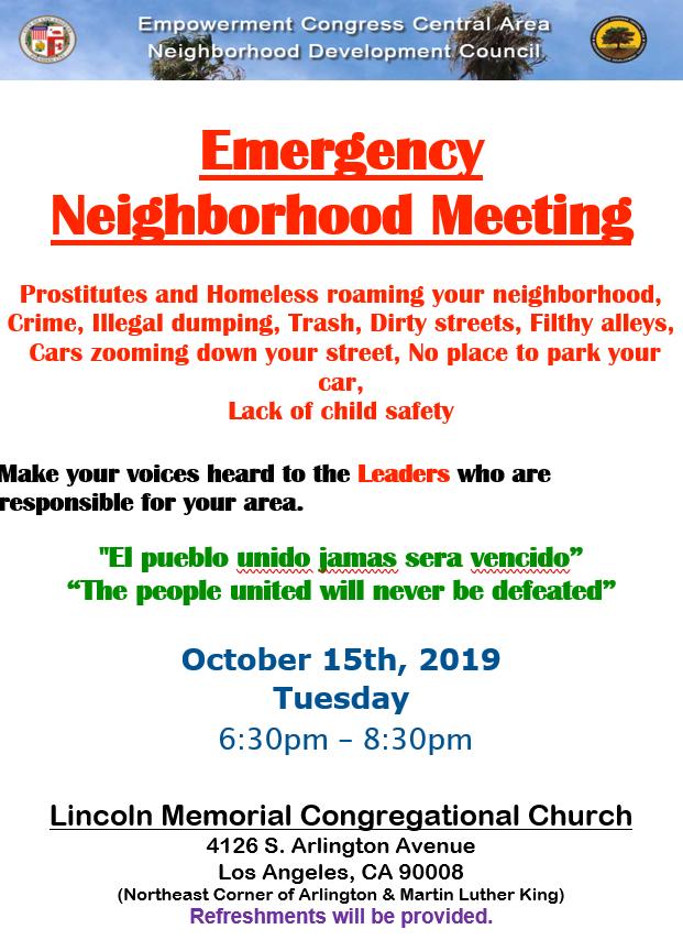 Area 1 Community Meeting