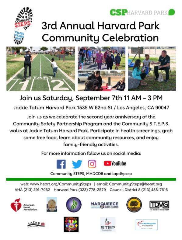 Harvard Park Community Celebration