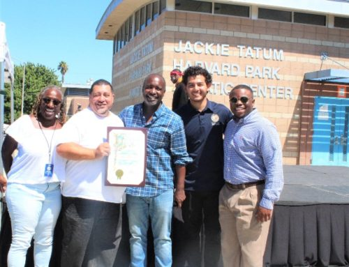 Celebrating Increased Safety at Harvard Park