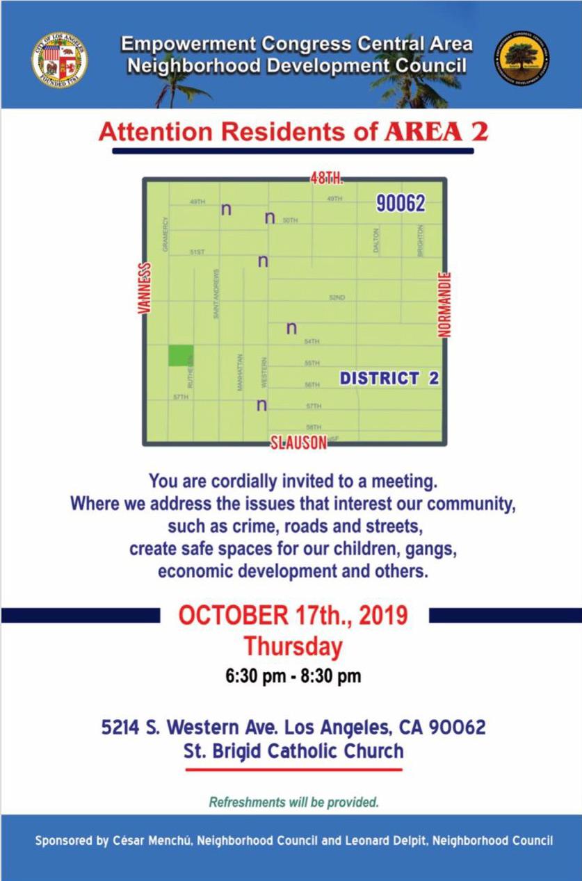 Area 2 Community Meeting