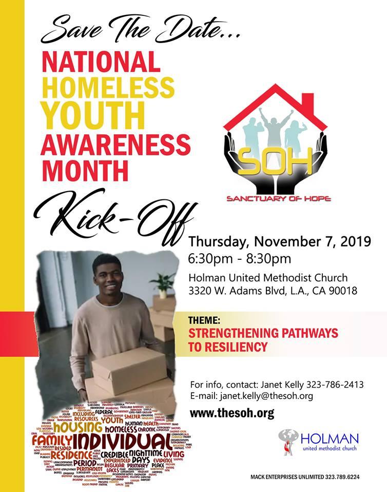 Homeless Youth Awareness Kick Off