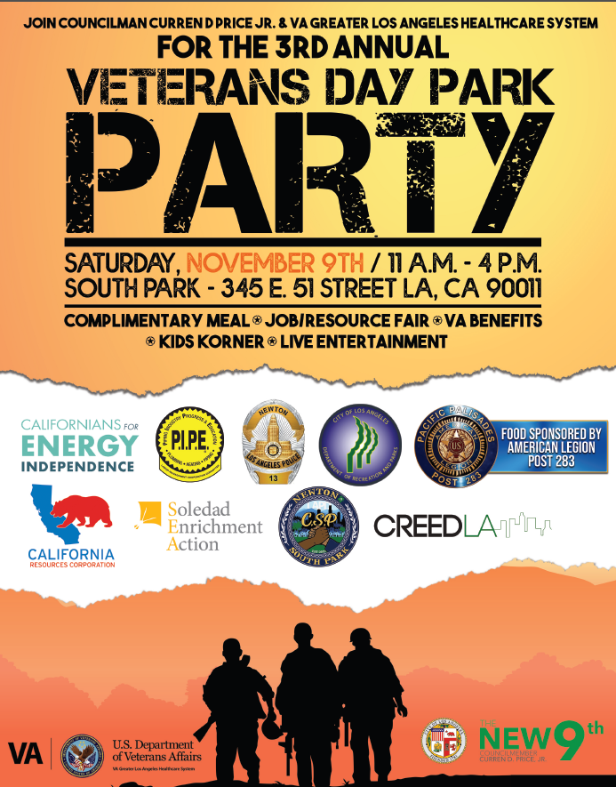 Veteran's Day Park Party