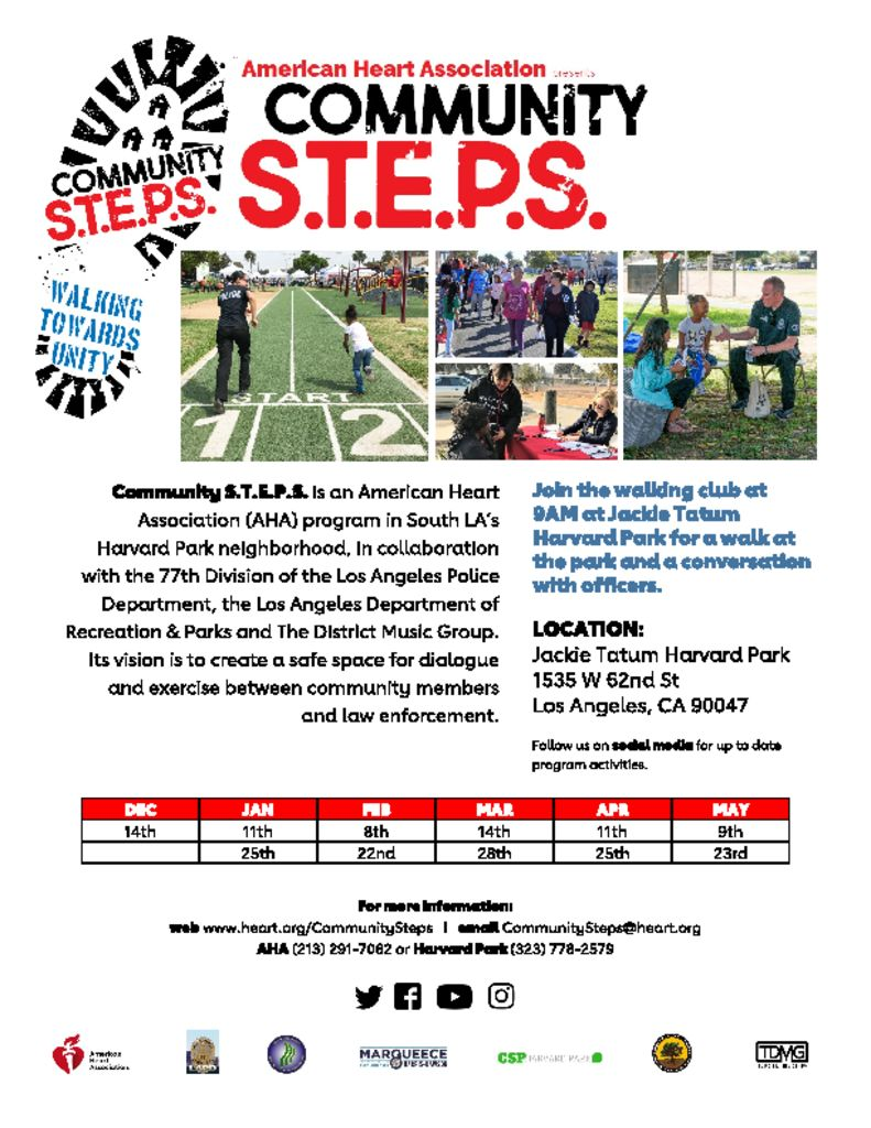 thumbnail of Community STEPS Spring 2020 Flyer
