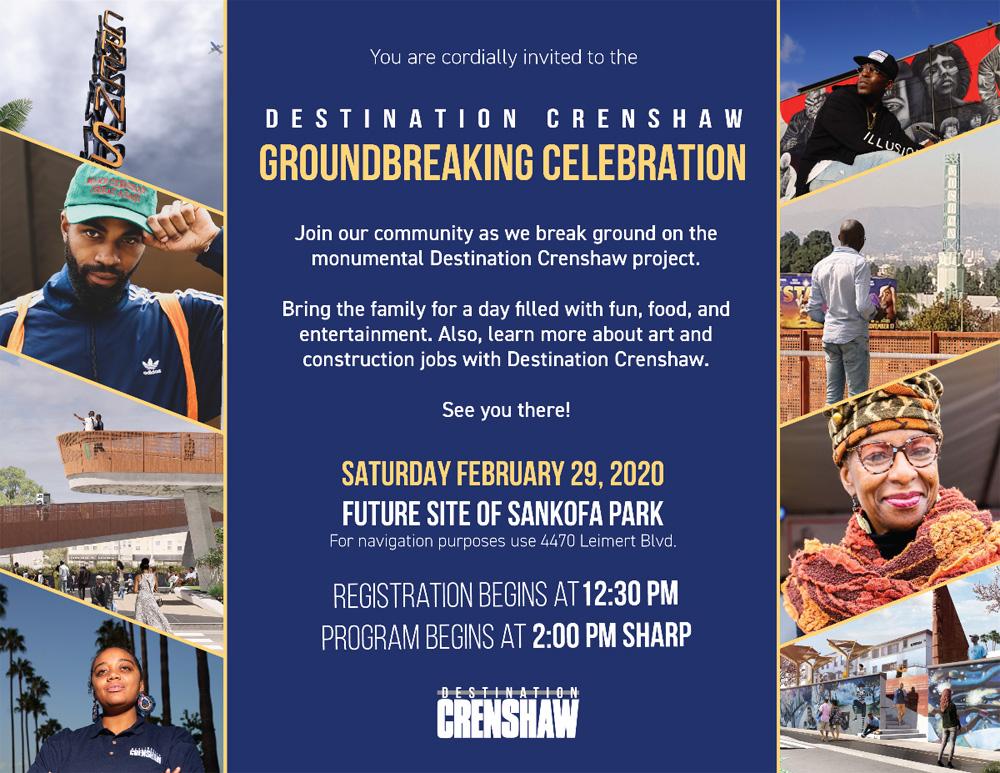 Destination Crenshaw Groundbreaking