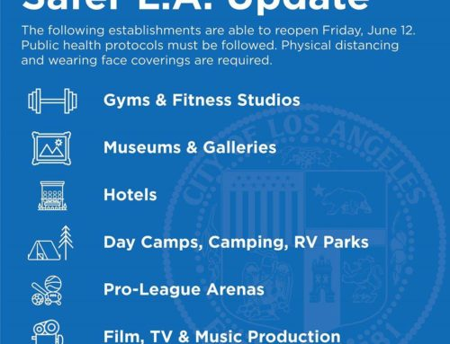 Safer LA Update: Gyms May Open